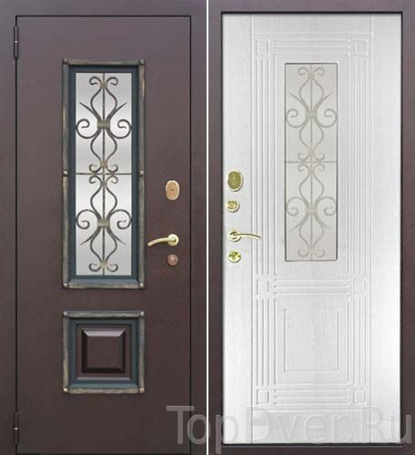 двери входные металические цвет беленый дуб