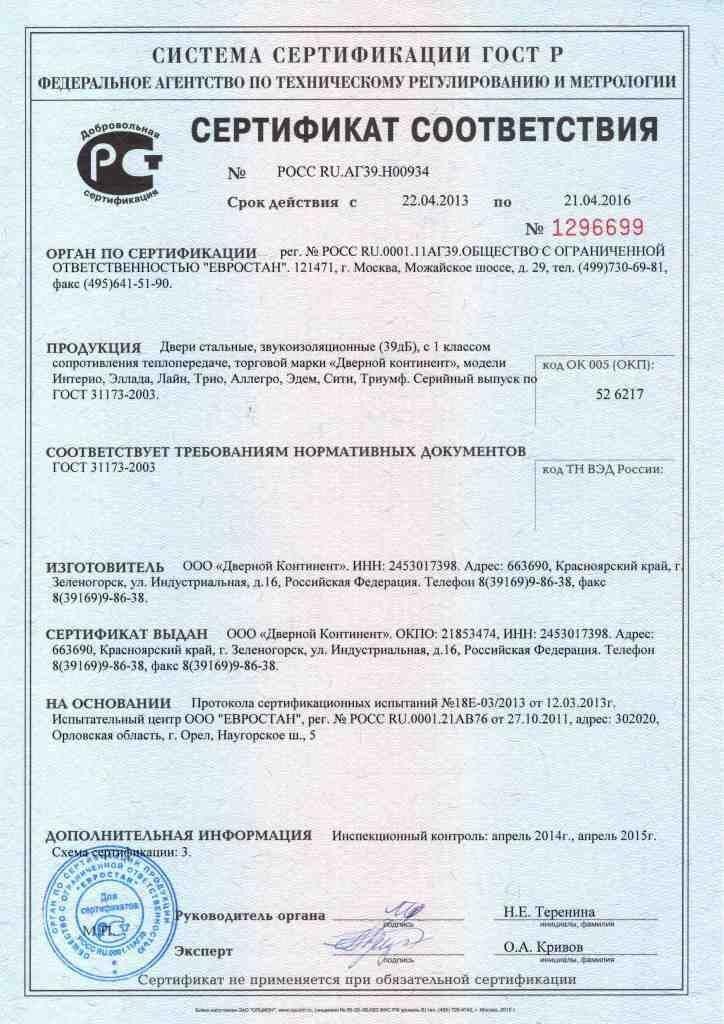 Сертификация дверей входных стандартизация сертификация продукции животноводства